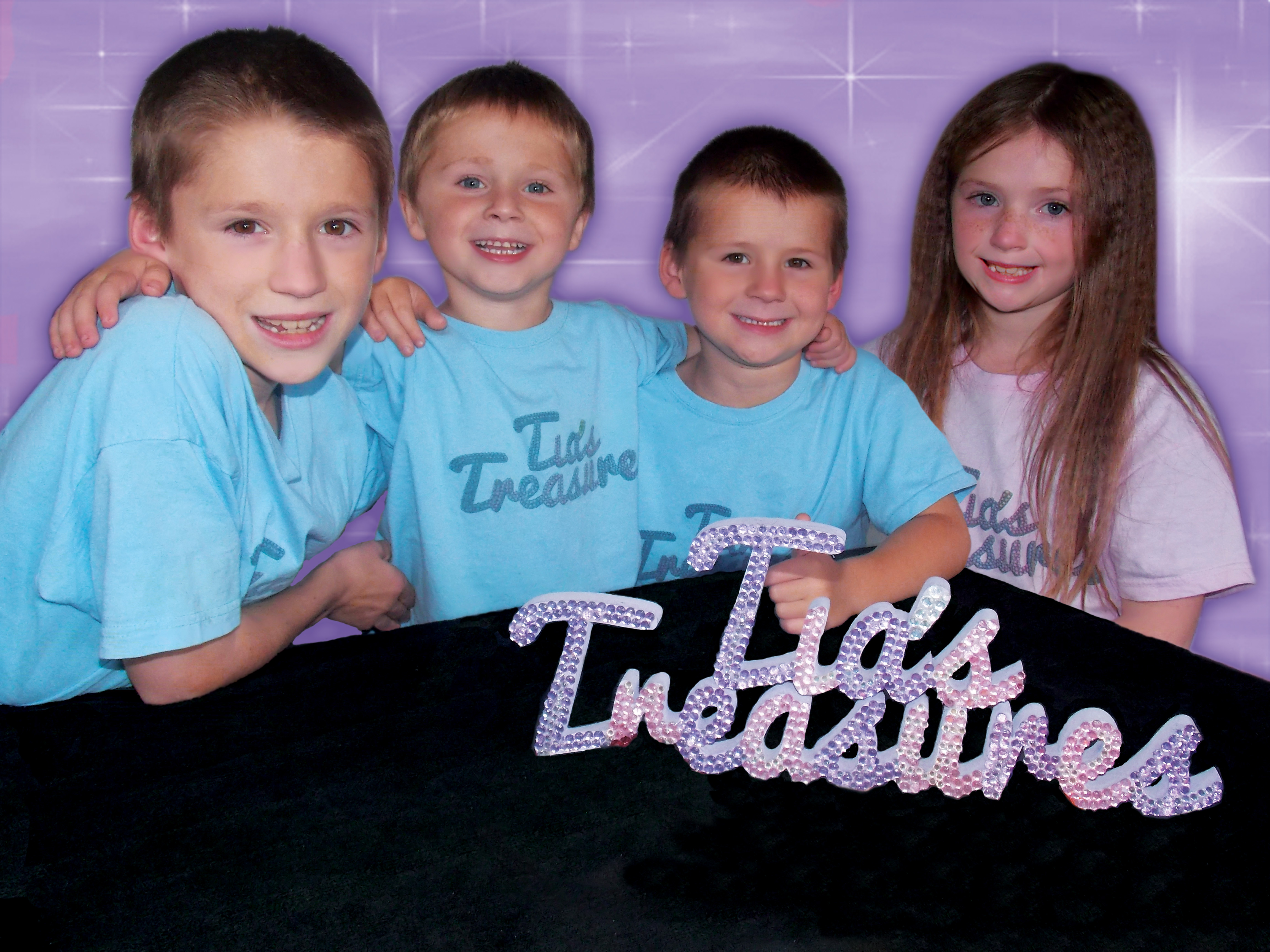 Tia and her Brothers Alex, Adam and Jamie